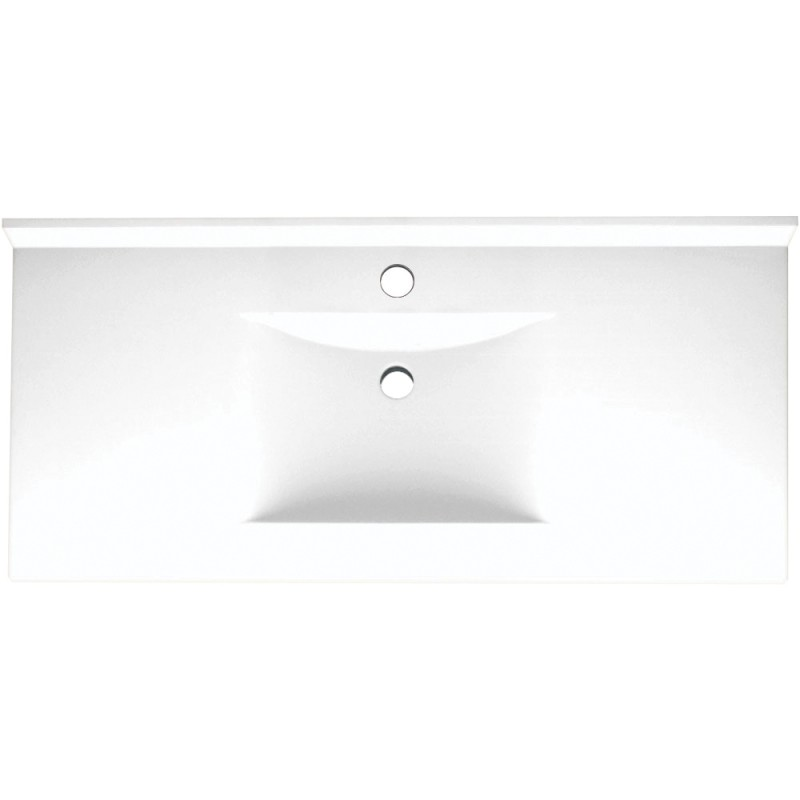 Swan Contour Solid Surface 49-in x 22-in Vanity Top
