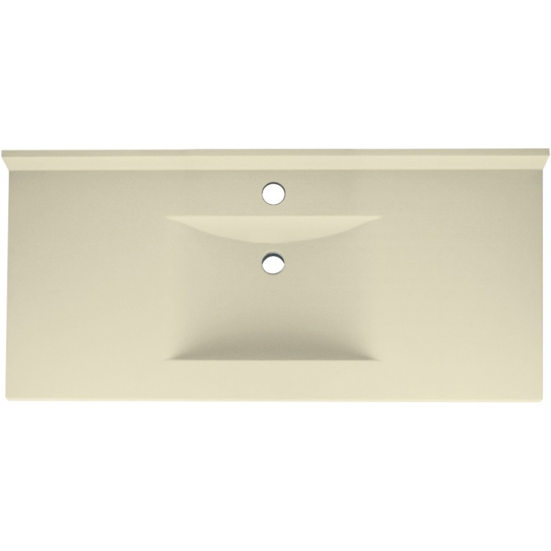 Swan Contour Solid Surface 49-in x 22-in Vanity Top