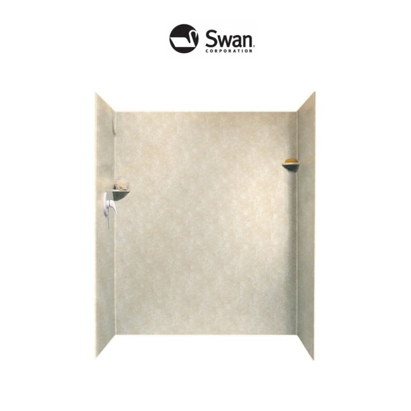 Swan Solid Surface 34-in x 60-in x 72-in Shower Side and Back Panels