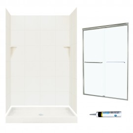 Swan Solid Surface 48-in x 32-in x 72-in 5-Piece Alcove Shower Kit