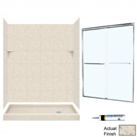 Swan Solid Surface 60-in x 32-in x 72-in 5-Piece Alcove Shower Kit