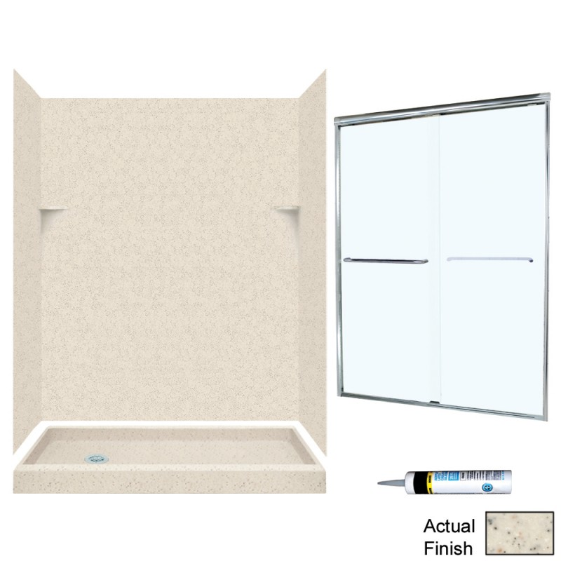Swan Solid Surface 32-in x 60-in x 72-in 5-Piece Alcove Shower Kit