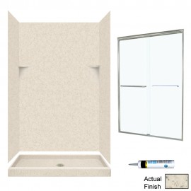 Swan Solid Surface 34-in x 48-in x 72-in 5-Piece Alcove Shower Kit