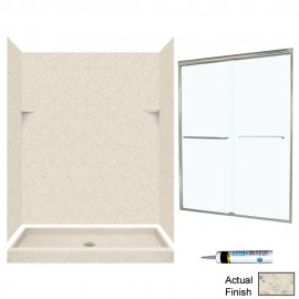 Swan Solid Surface 34-in x 60-in x 72-in 5-Piece Alcove Shower Kit