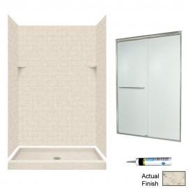 Swan Solid Surface 48-in x 34-in x 72-in 5-Piece Alcove Shower Kit