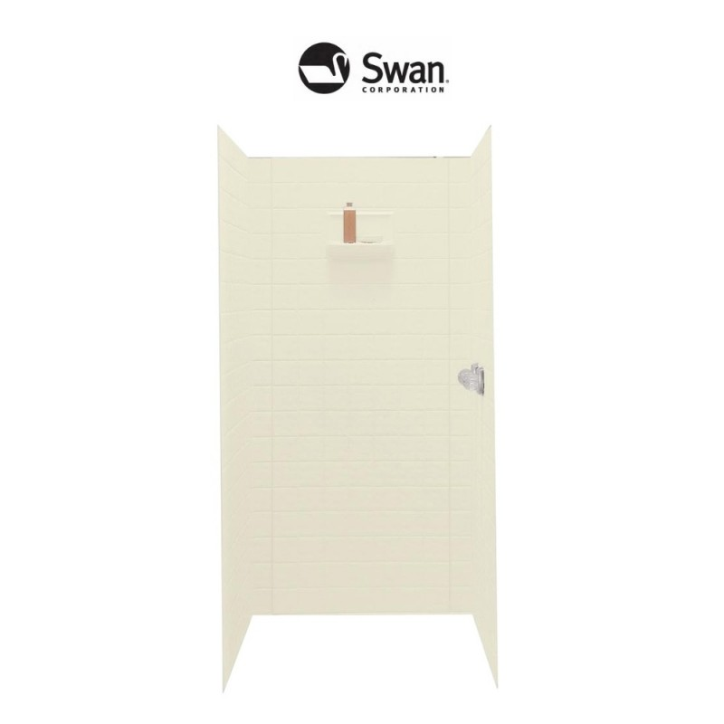 Swan Veritek 34-in x 36-in x 72-in Shower Wall Surround Side and Back Panels