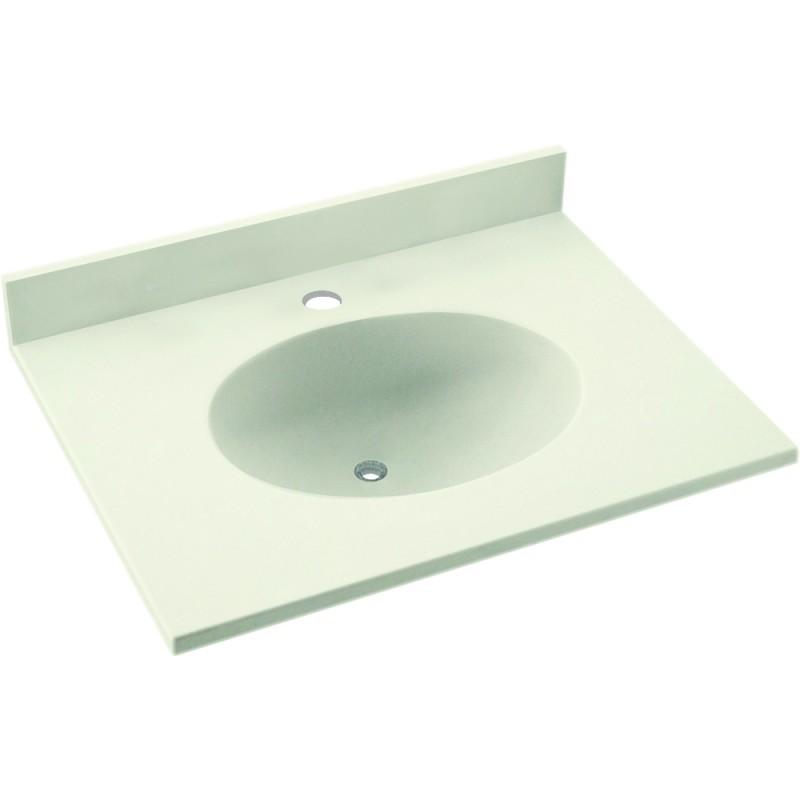 Swan Ellipse Solid Surface 19-in x 17-in Vanity Top