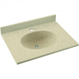 Swan Ellipse Solid Surface 25-in x 19-in Vanity Top