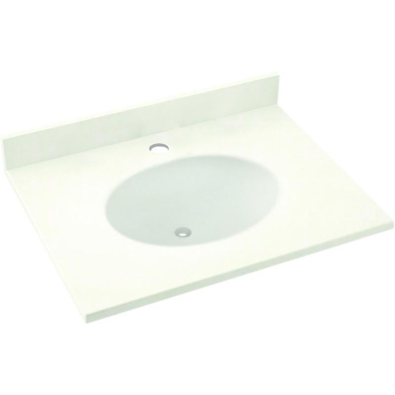 Swan Ellipse Solid Surface 25-in x 19-in Vanity Top