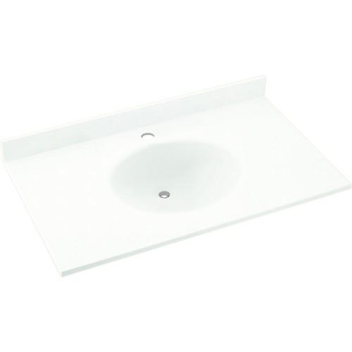 Swan Ellipse Solid Surface 31-in x 19-in Vanity Top