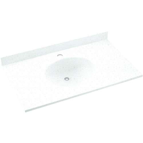 Swan Ellipse Solid Surface 37-in x 19-in Vanity Top