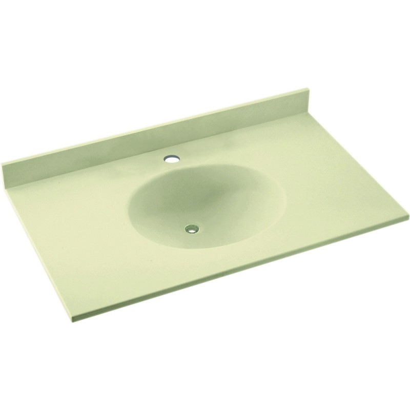 Swan Ellipse Solid Surface 37-in x 19-in Vanity Top