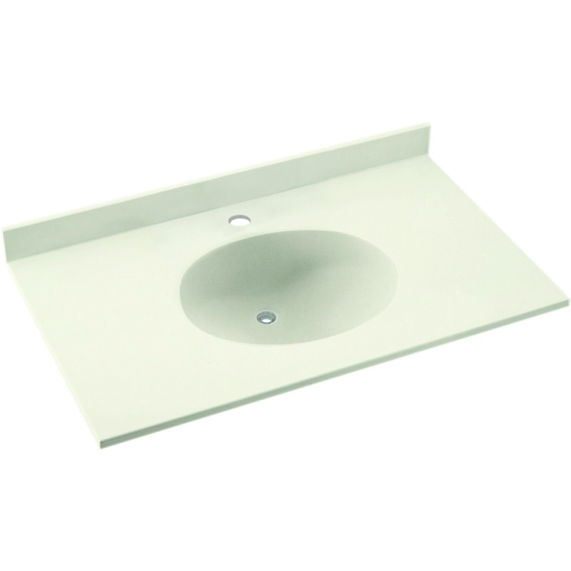 Swan Ellipse Solid Surface 37-in x 22-in Vanity Top