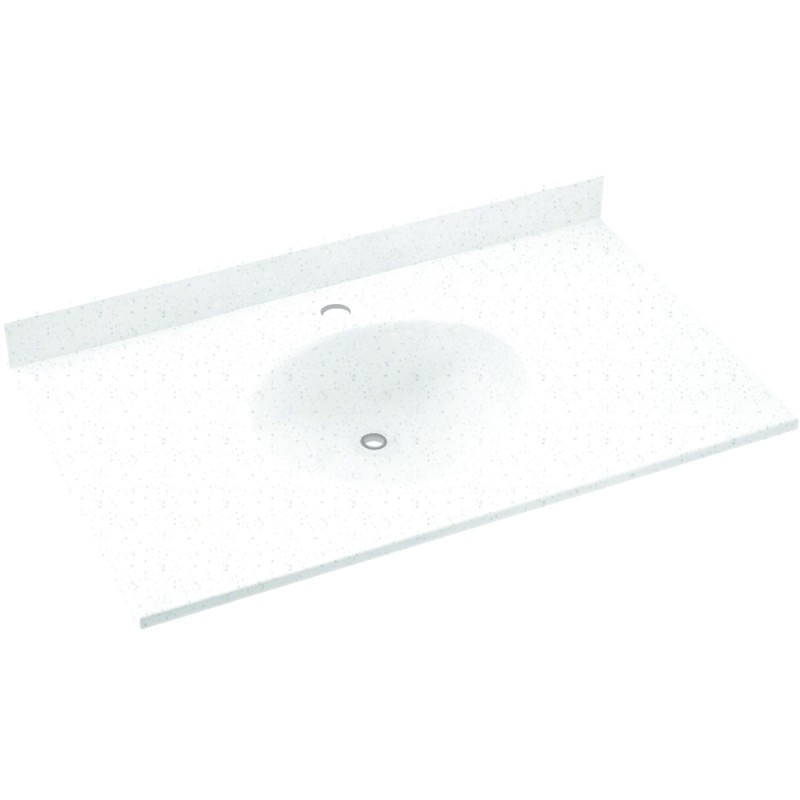 Swan Ellipse Solid Surface 37-in x 22-in Vanity Top