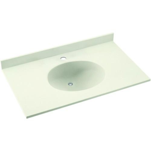 Swan Ellipse Solid Surface 49-in x 22-in Vanity Top