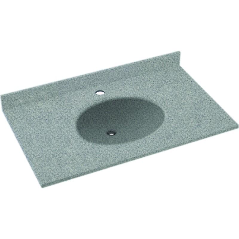 Swan Ellipse Solid Surface 55-in x 22-in Vanity Top