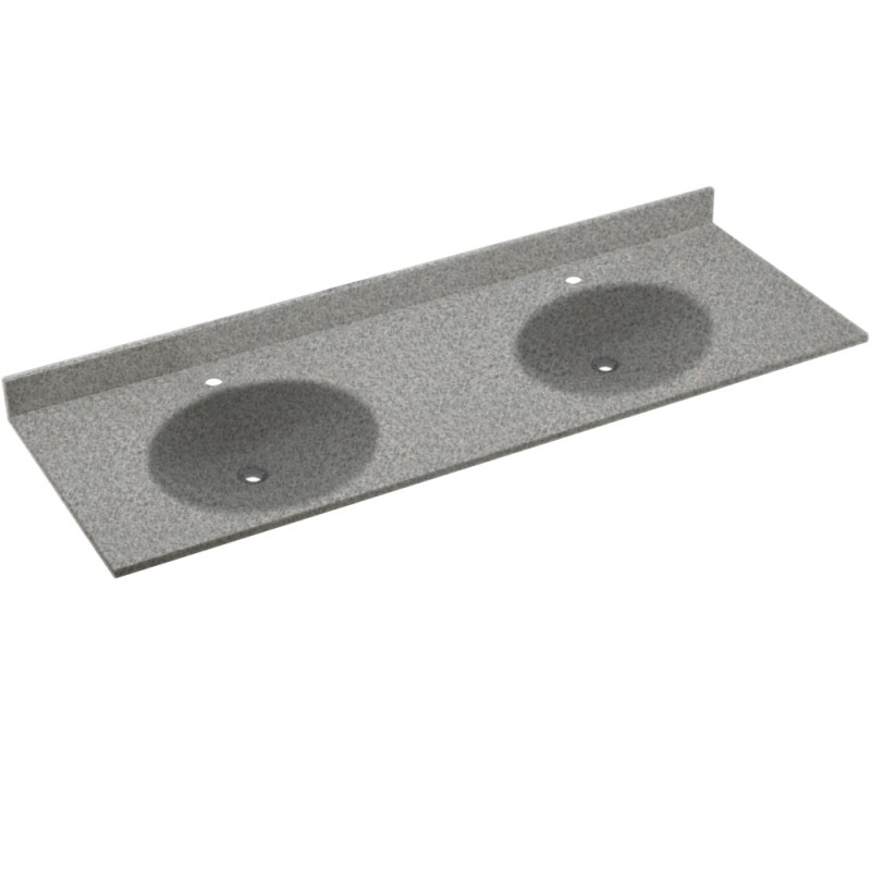 Swan Ellipse Solid Surface 61-in x 22-in Vanity Top