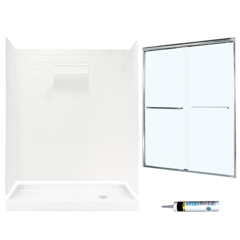 Swan Veritek 32-in x 60-in x 72-in 5-Piece Alcove Shower Kit
