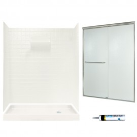 Swan Veritek 32-in x 60-in x 72-in 5-Piece Alcove Shower Kit
