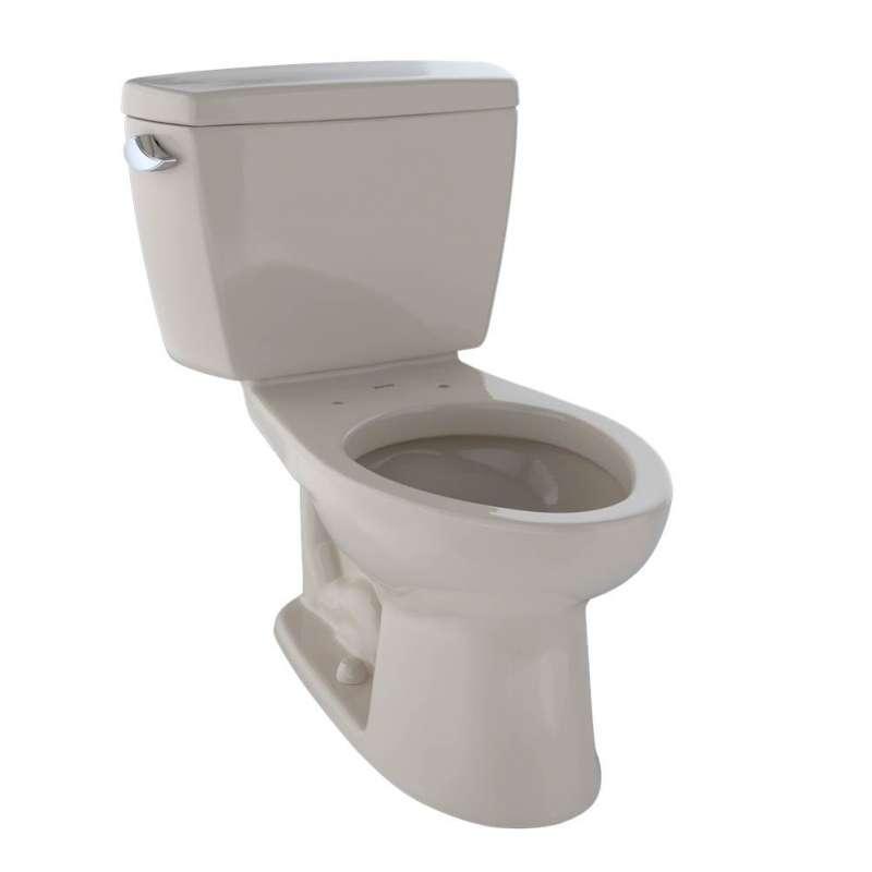 Toto Drake Elongated G-Max 1.6-GPF 2 Piece Toilet, Less Seat