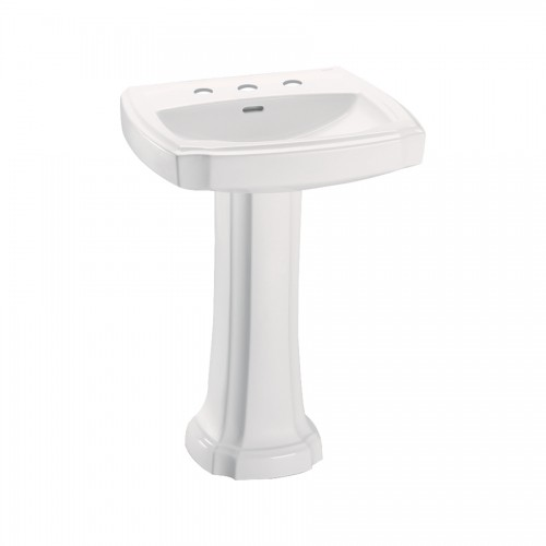 Toto Guinevere 24-3/8-In Pedestal Bathroom Sink With 3 Faucet Hole