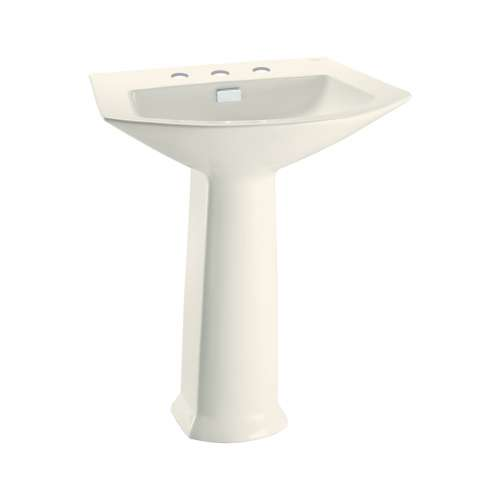 Toto Soiree 25-1/8-In Pedestal Bathroom Sink With 3 Faucet Holes