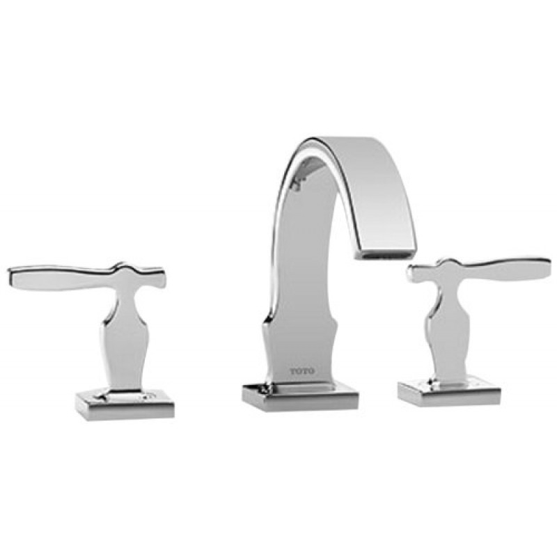 Toto Aimes Widespread Bathroom Faucet With Pop-Up Drain Assembly