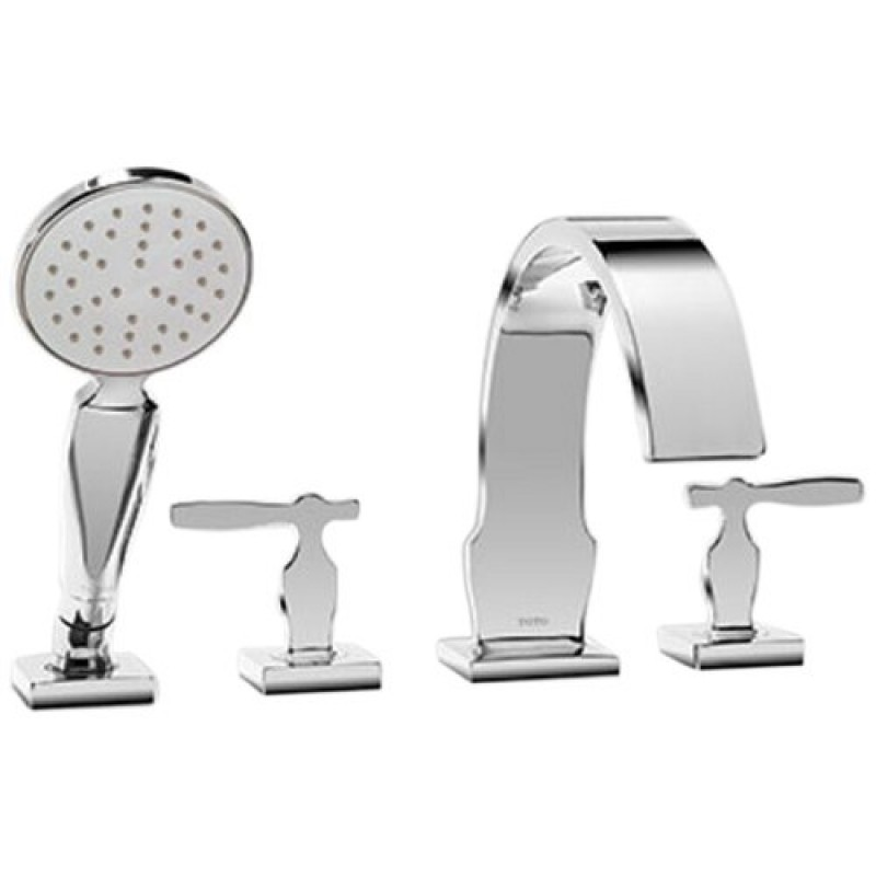 Toto Aimes Deck-Mounted Bathtub Faucet Trim Kit With Handheld Shower