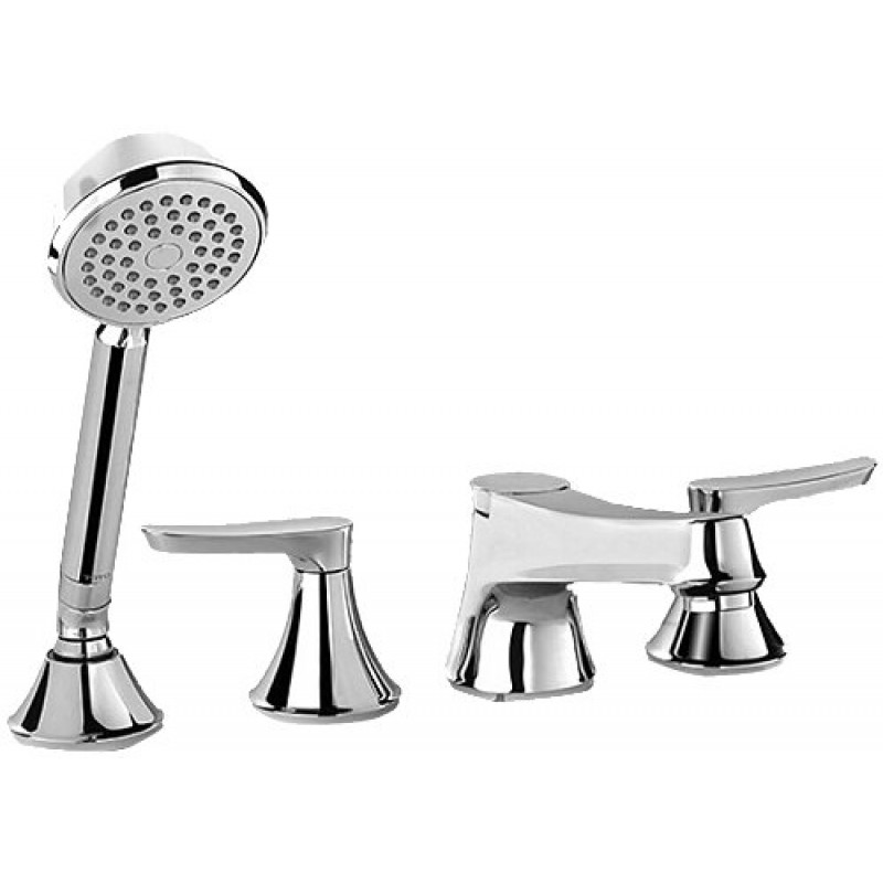 Toto Wyeth Deck-Mounted Bathtub Faucet Trim Kit With Handheld Shower