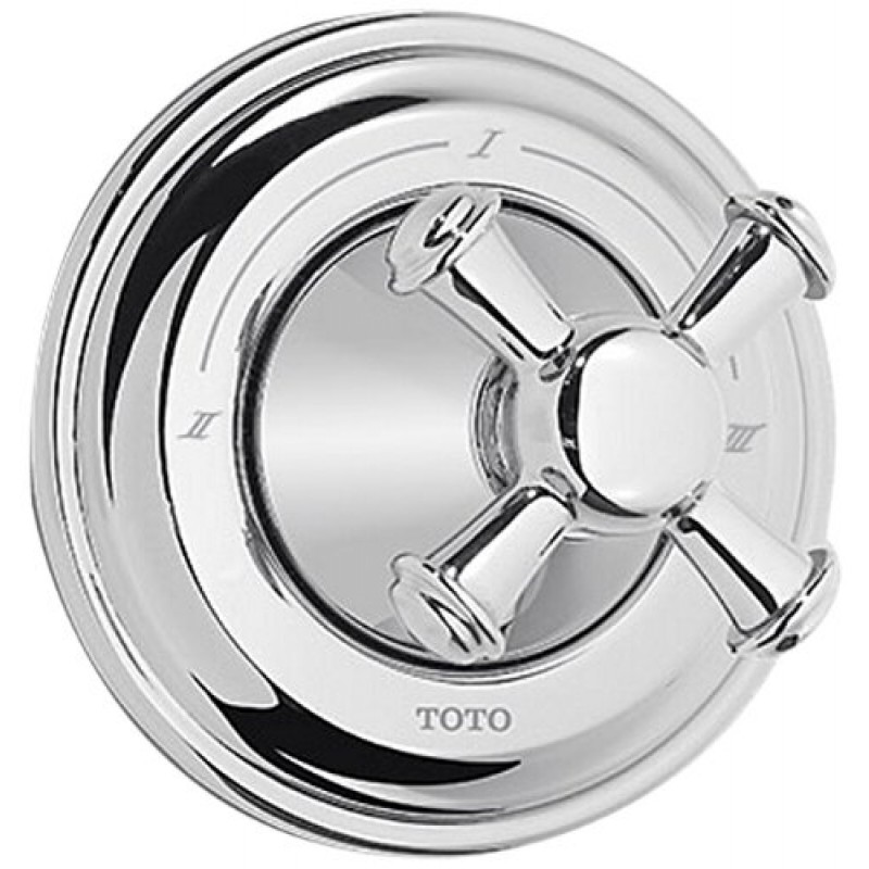 Toto Vivian Three-Way Diverter Trim With Cross Handle