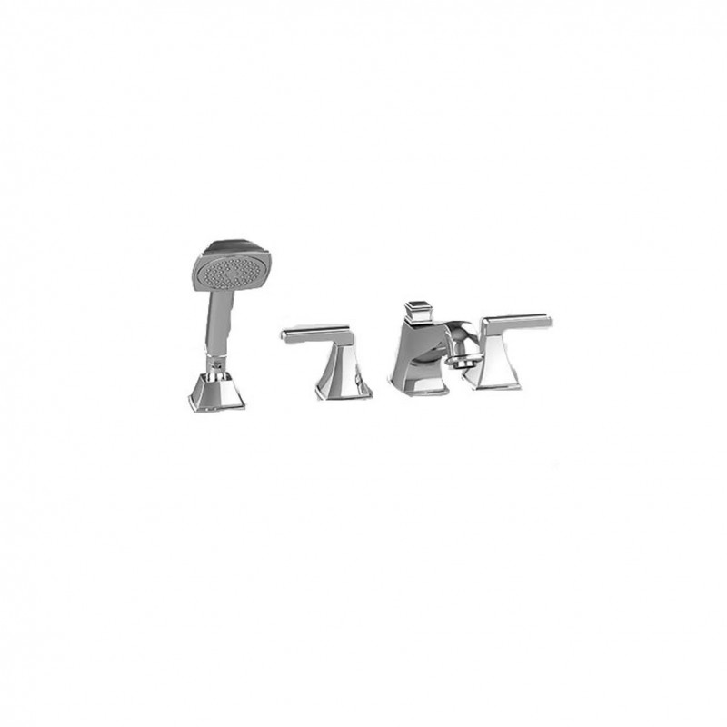 Toto Connelly Four-Hole Roman Bathtub Faucet Trim Kit With Handheld Shower