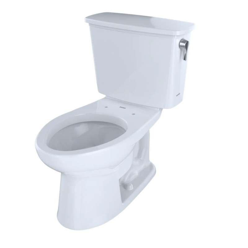 Toto Eco Drake Elongated E-Max 1.28-GPF 2 Piece Toilet, Less Seat