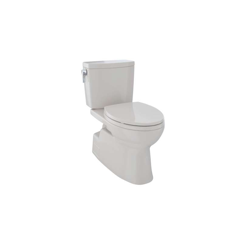 Toto Vespin II Elongated Tornado 1-GPF 2 Piece Toilet, Less Seat