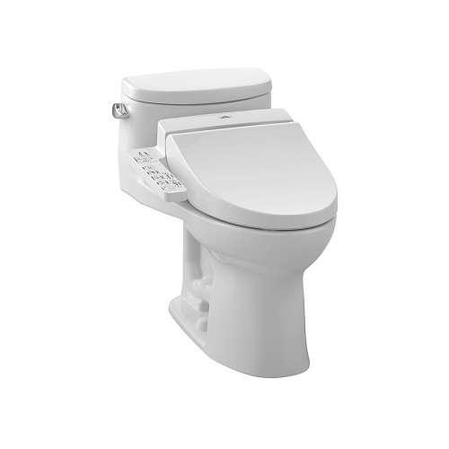 Toto Supreme II Elongated Gravity Flush 1.28-GPF 1-Piece Toilet, Less Seat