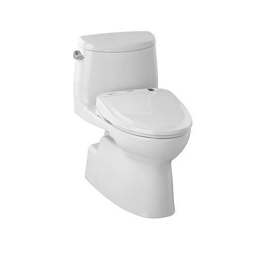 Toto Carlyle II Elongated Gravity Flush 1.28-GPF 1-Piece Toilet, Less Seat