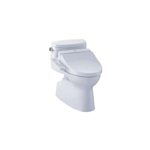 Toto Carolina II Elongated Siphon Jet, Gravity Flush 1.28-GPF 1-Piece Toilet, Less Seat