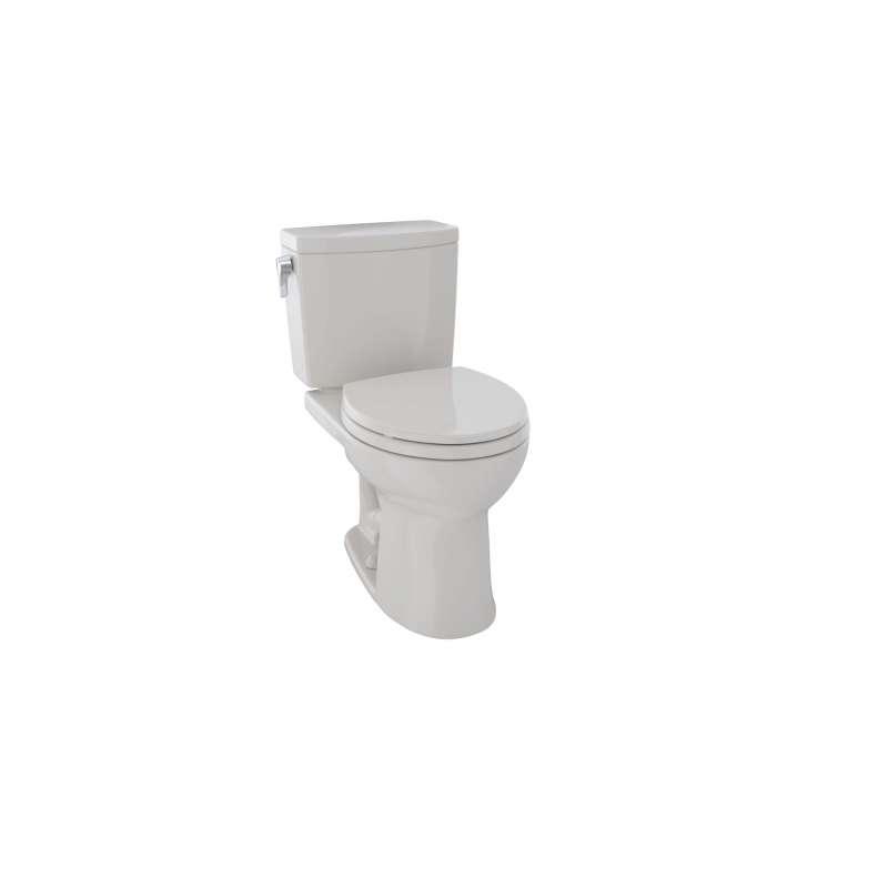 Toto Drake II Round Tornado 1-GPF 2 Piece Toilet, Less Seat