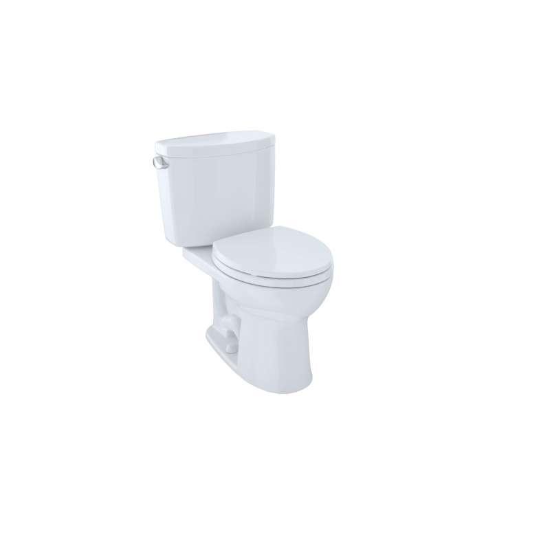 Toto Drake II Round Tornado 1.28-GPF 2 Piece Toilet, Less Seat