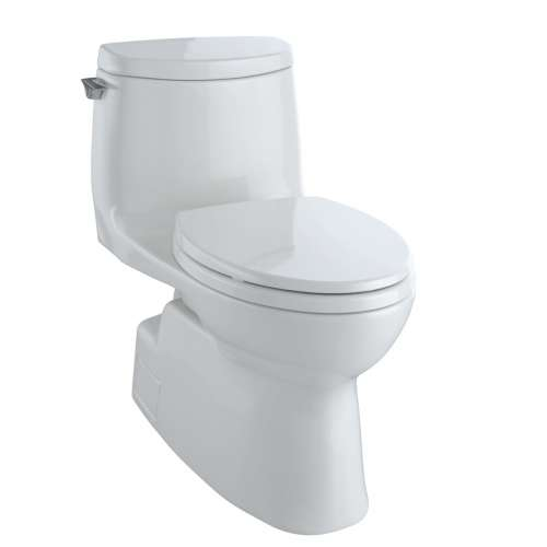 Toto Carlyle II Elongated Tornado 1-GPF 1-Piece Toilet, With Seat