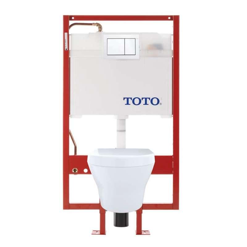 Toto MH Round Tornado 0.9, 1.28-GPF 1-Piece Toilet, Less Seat