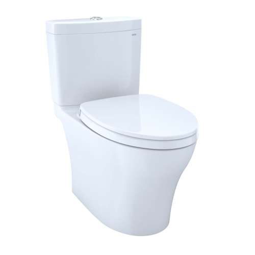 Toto Aquia IV Elongated Tornado 0.8, 1.28-GPF Toilet Bowl, With Seat