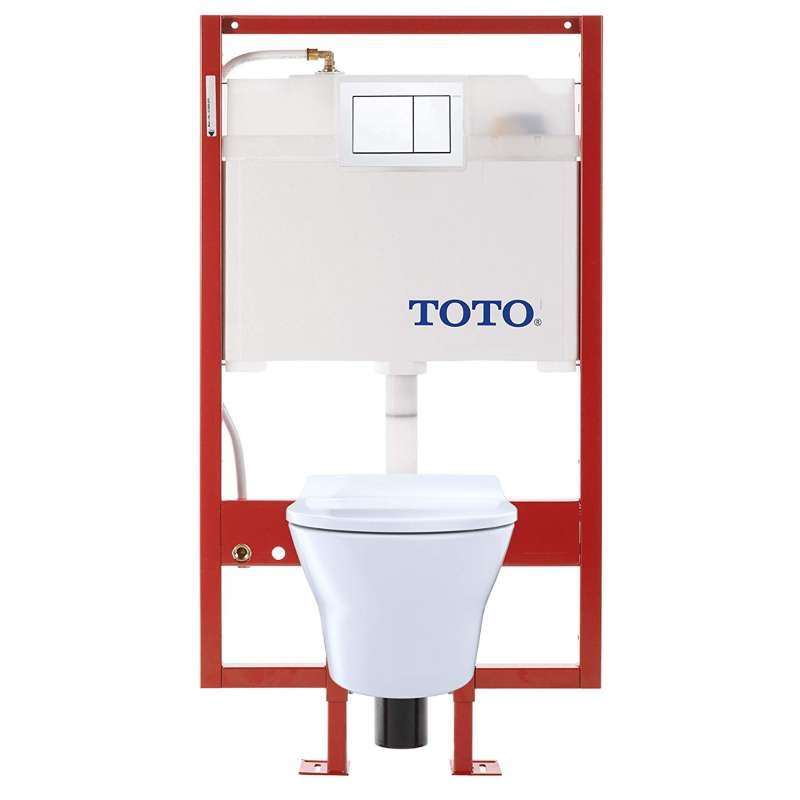 Toto MH Elongated Tornado 0.9, 1.28-GPF 1-Piece Toilet, Less Seat