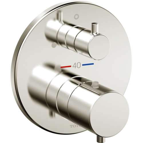 Toto Mini Unit Round Thermostatic Mixing Valve with Volume Control Trim - In Multiple Colors