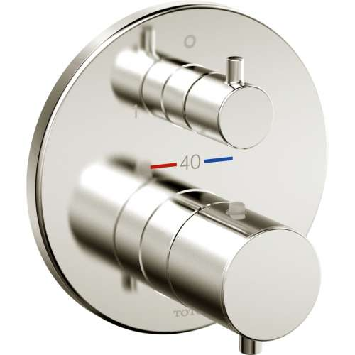 Toto Mini Unit Round Thermostatic Mixing Valve with Two-way Diverter Trim - In Multiple Colors