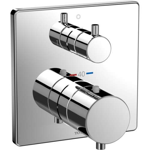 Toto Mini Unit Square Thermostatic Mixing Valve with Two-way Diverter Trim