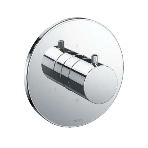 Toto Mini Unit Round Three-Way Diverter Shower Trim with Off