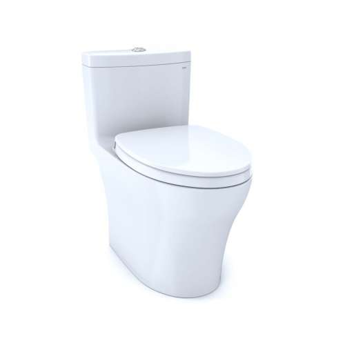Toto Aquia IV Elongated Tornado 0.8, 1.28-GPF 1-Piece Toilet, With Seat