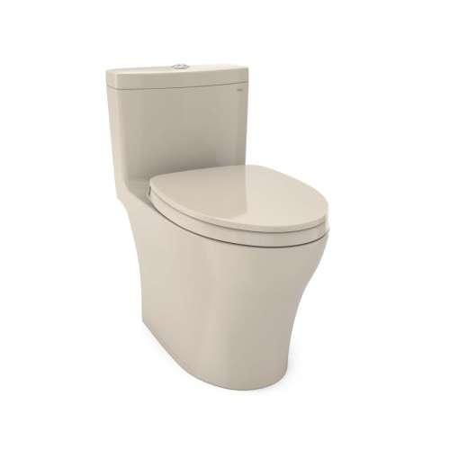 Toto Aquia IV Elongated Tornado 0.8, 1.28-GPF 1-Piece Toilet, With Seat