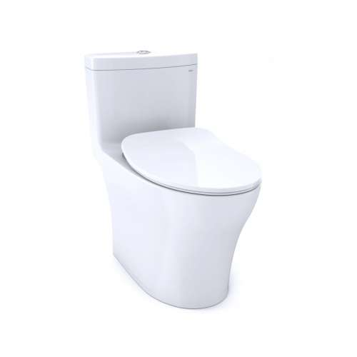Toto Aquia IV Elongated Dual 1.28, 0.8-GPF 1-Piece Toilet, With Seat