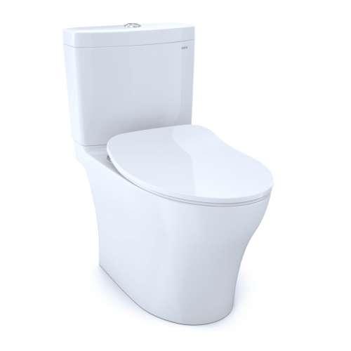 Toto Aquia IV Elongated Tornado 1.28, 0.8-GPF Toilet Bowl, With Seat